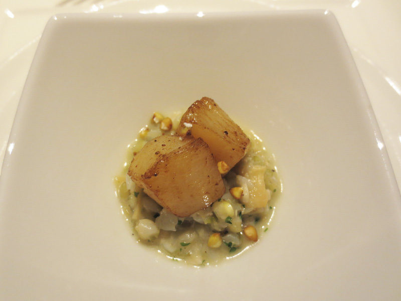 蕎麦の実と帆立貝柱のリゾット