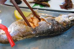 あおもりご当地食めぐり 十和田・三沢食のエリア 十和田湖ひめます料理 塩焼き