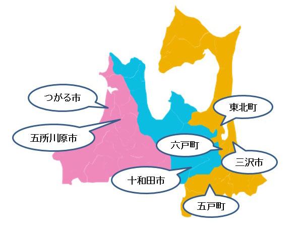 青森県のながいも生産地