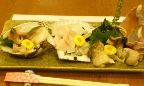 青森が味わえるお店 青森料理割烹 なか村 東京 貝の三種盛り合せ