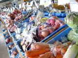 アップルヒル農産物直売所(道の駅「なみおか」)店内の様子