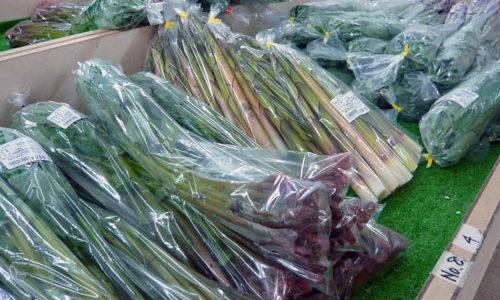 農産物直売所「あじ・彩・感」(海の駅「わんど」内)山菜も豊富