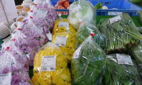 JAつがる弘前農産物直売施設「ふじの里」 旬の野菜が並ぶ店内