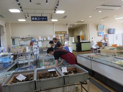 道の駅ふかうら「かそせいか焼き村」新鮮な魚介を物色