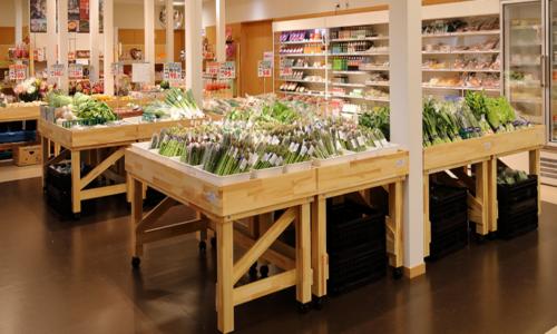 産地直売所に並ぶ野菜