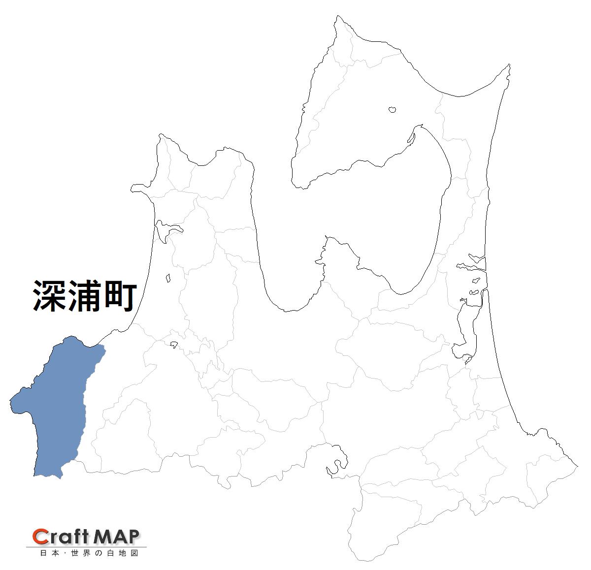 青森県深浦町の位置
