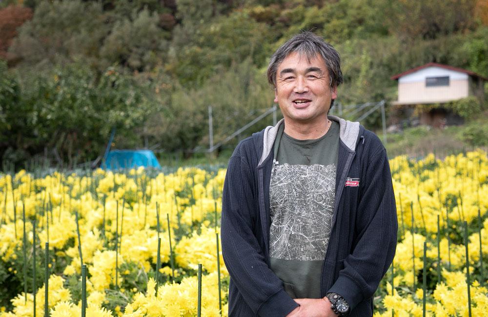 阿房宮を生産している和田進さんの畑